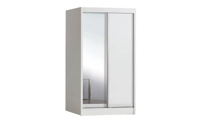 [MAAYRISE] Shaka-White Glass Mirror sliding wardrobe