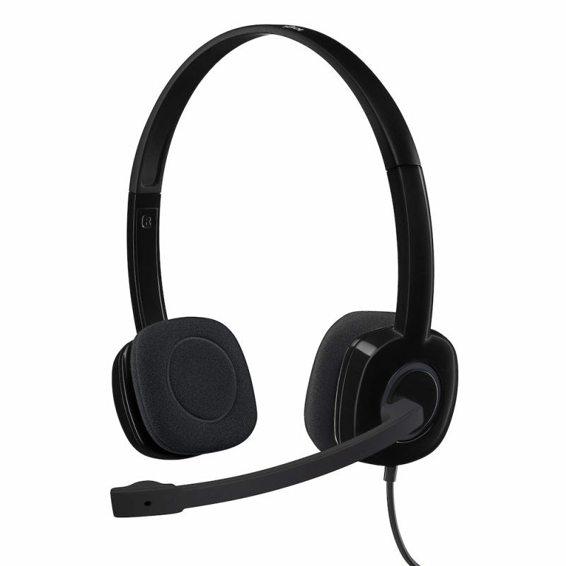 [SG Seller] Logitech H151 Headset with Noise-Cancelling Boom Microphone Singapore