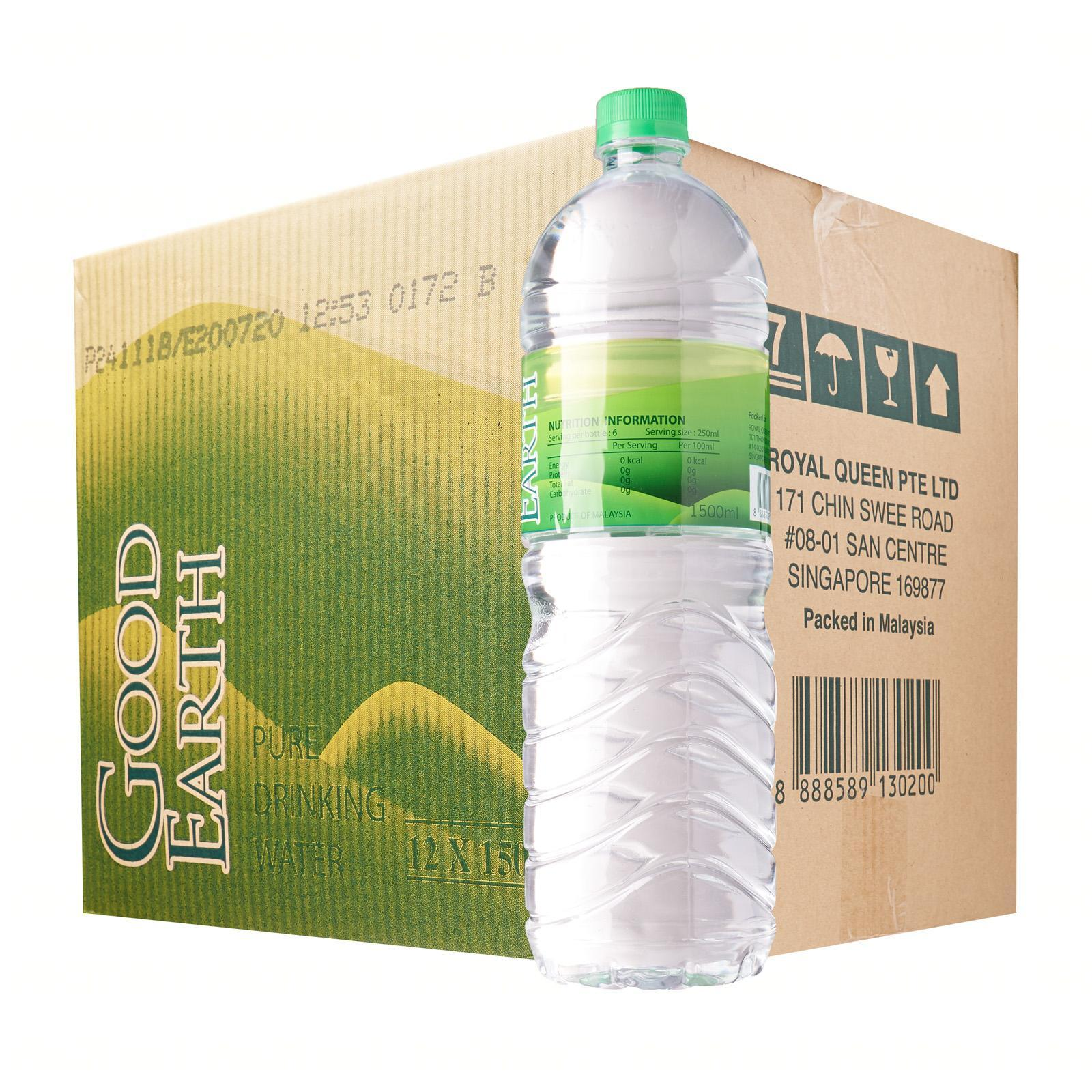 Good Earth Pure Drinking Water 1.5L 12s - Case
