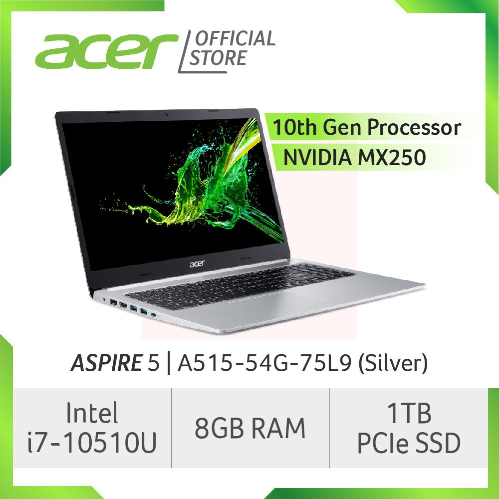 Acer Aspire 5 A515-54G-75L9 (Silver) Laptop with LATEST 10th Gen Intel Core i7-10510U Processor