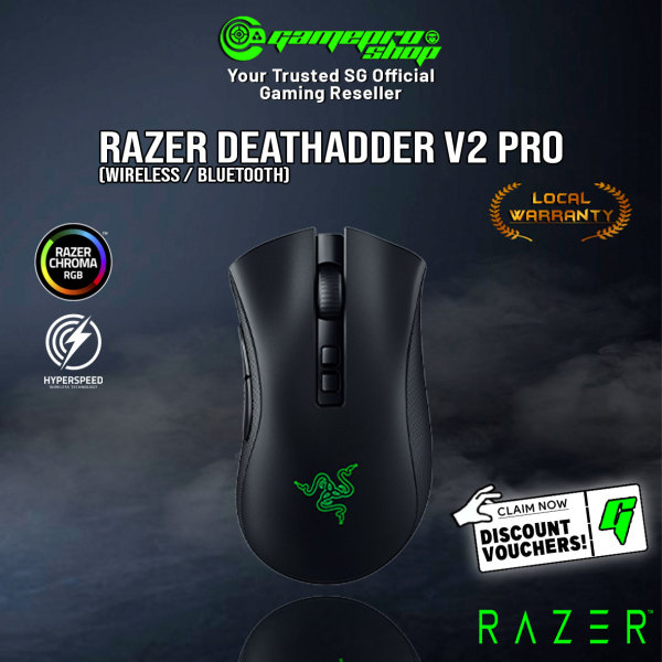 Razer DeathAdder V2 Pro Ergonomic Wireless Gaming Mouse - RZ01-03350100-R3A1(2Y)
