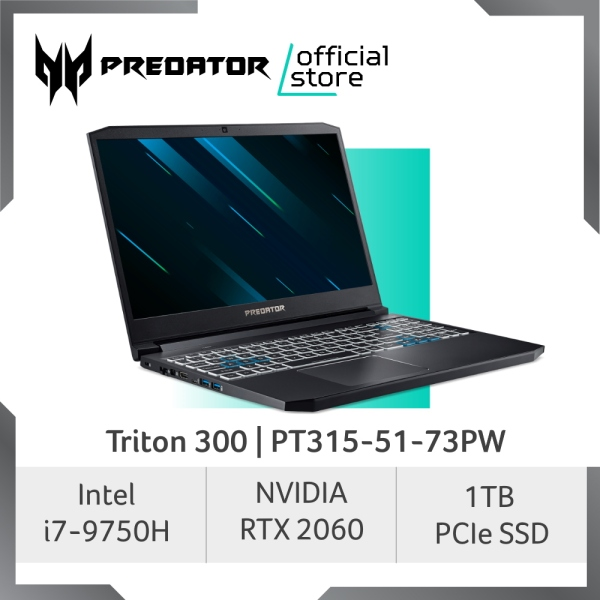 [READY STOCKS] Predator Triton 300 PT315-51-73PW NEW Gaming Laptop with RTX 2060 Graphics 144 Hz Refresh Rate