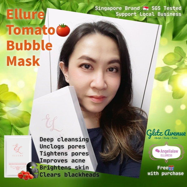 Buy 𝙄𝙉𝙎𝙏𝙊𝘾𝙆! Ellure Tomato🍅 Bubble Mask - The Only Deep Cleansing Bubble Mask Youll Ever Need! Singapore