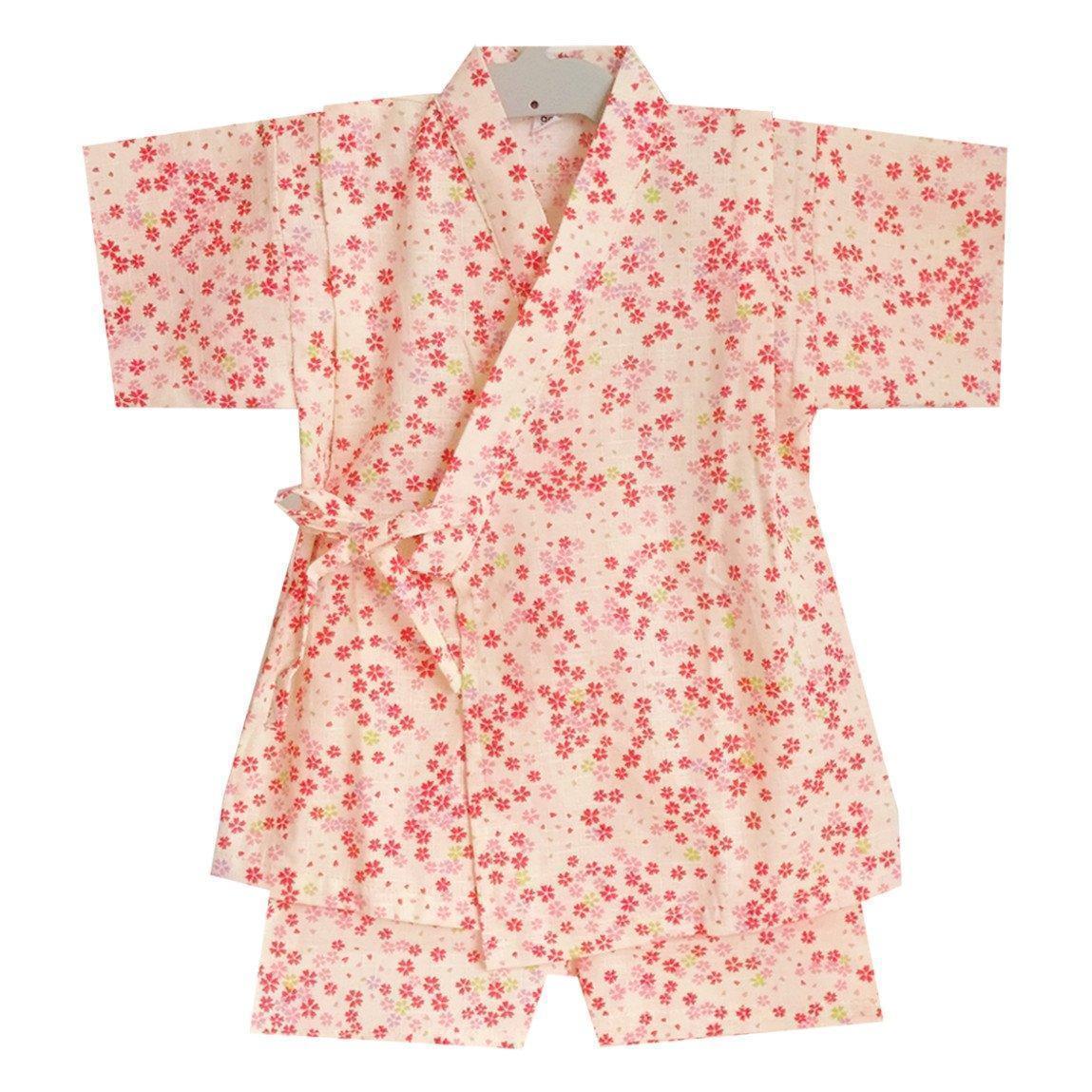 Okiddo Little Japanese Sakura Girl Suit-Beige By Okiddo.