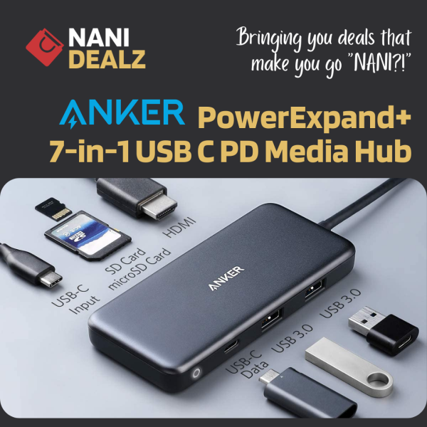 [SG Seller] Anker PowerExpand+ 7-in-1 USB C PD Media Hub (A8346)