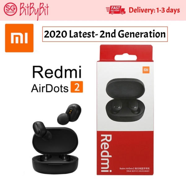 2020 Latest - 2nd Generation Xiaomi Redmi AirDots 1/ 2 True Wireless Earbuds Bluetooth 5.0 TWS Bluetooth Earphone MI AirDots Wireless Bluetooth 5.0 Headset Xiaomi Earbuds XiaoMi Redmi Airdots True Wireless Earbuds Bluetooth 5 Singapore