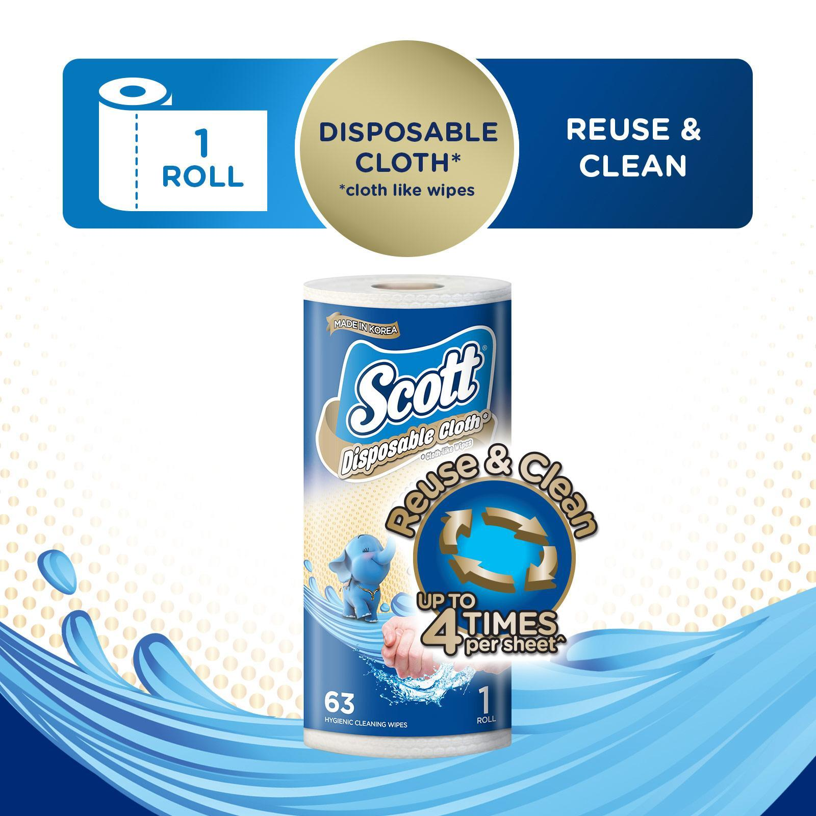 Scott Disposable Cloth Like Wipes Kitchen Roll