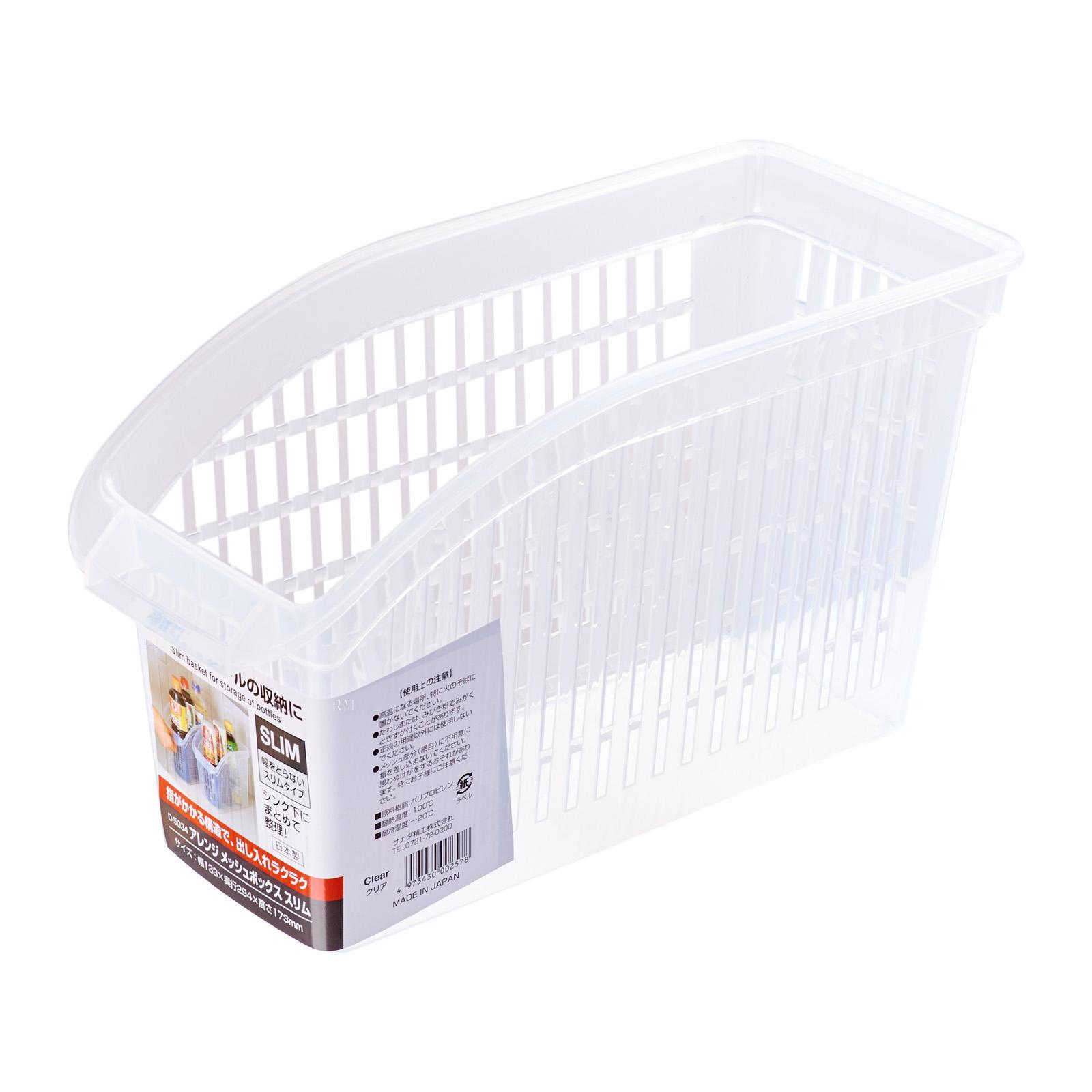 Sanada Seiko Storage Basket Mesh Box Slim/Clear