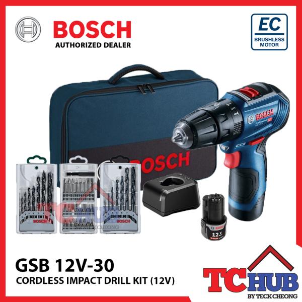 Bosch GSB 12V-30 Impact Drill Kit (12V)