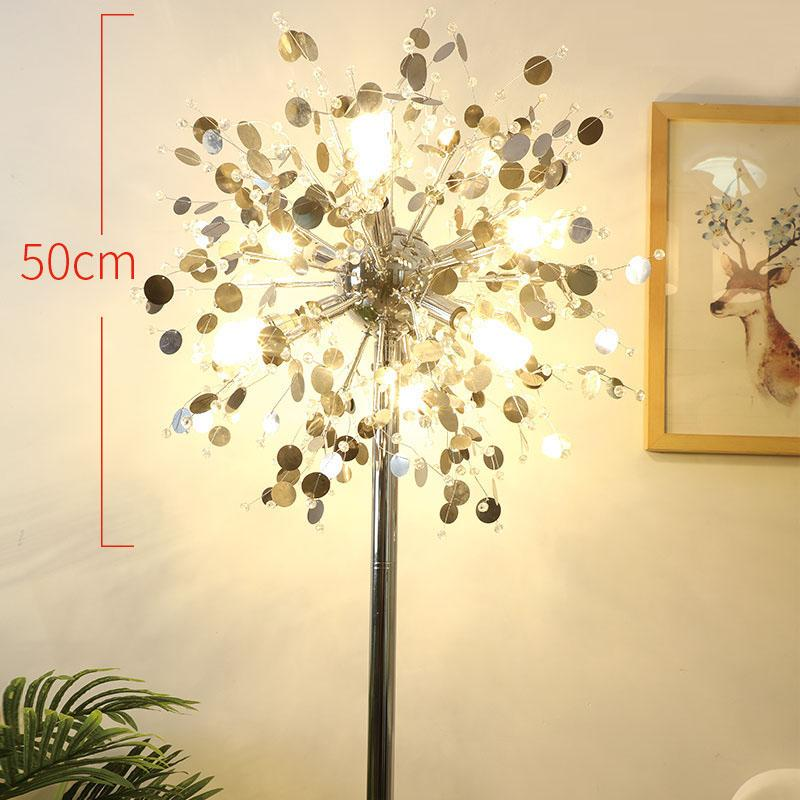 Fashion modern crystal Floor lamp living room lights bedroom lamps French Modern stand Lights Stainless steel Abajur cristal