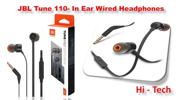 JBL Tune 110- In Ear Wired Headphones Singapore