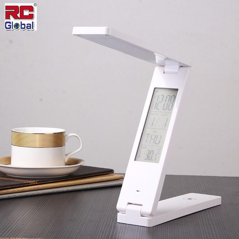 RC-Global HUAWEI Protect Eyesight Fordable Reading Led Light Table Lamp Portable Touch Control Calendar Alarm Clock usb charging