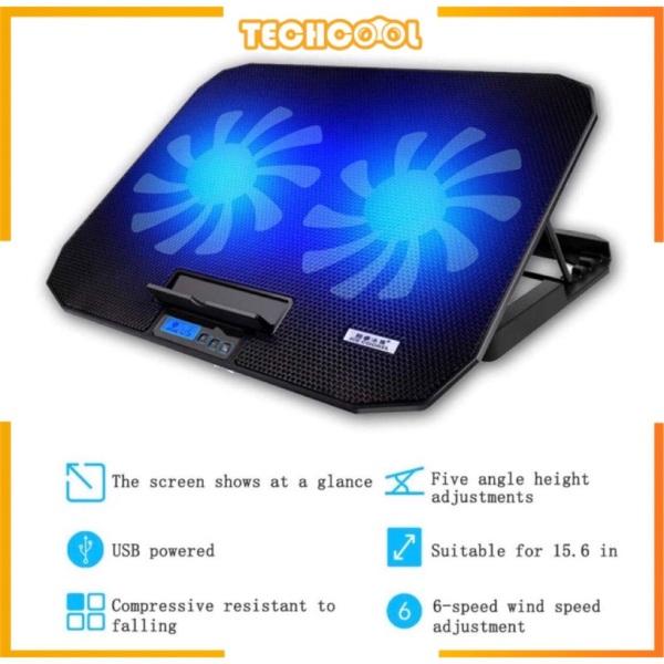 Core Ice N106 Laptop Cooler Stand Adjustable Big Power Speed Fan Speed Adjustable Notebook