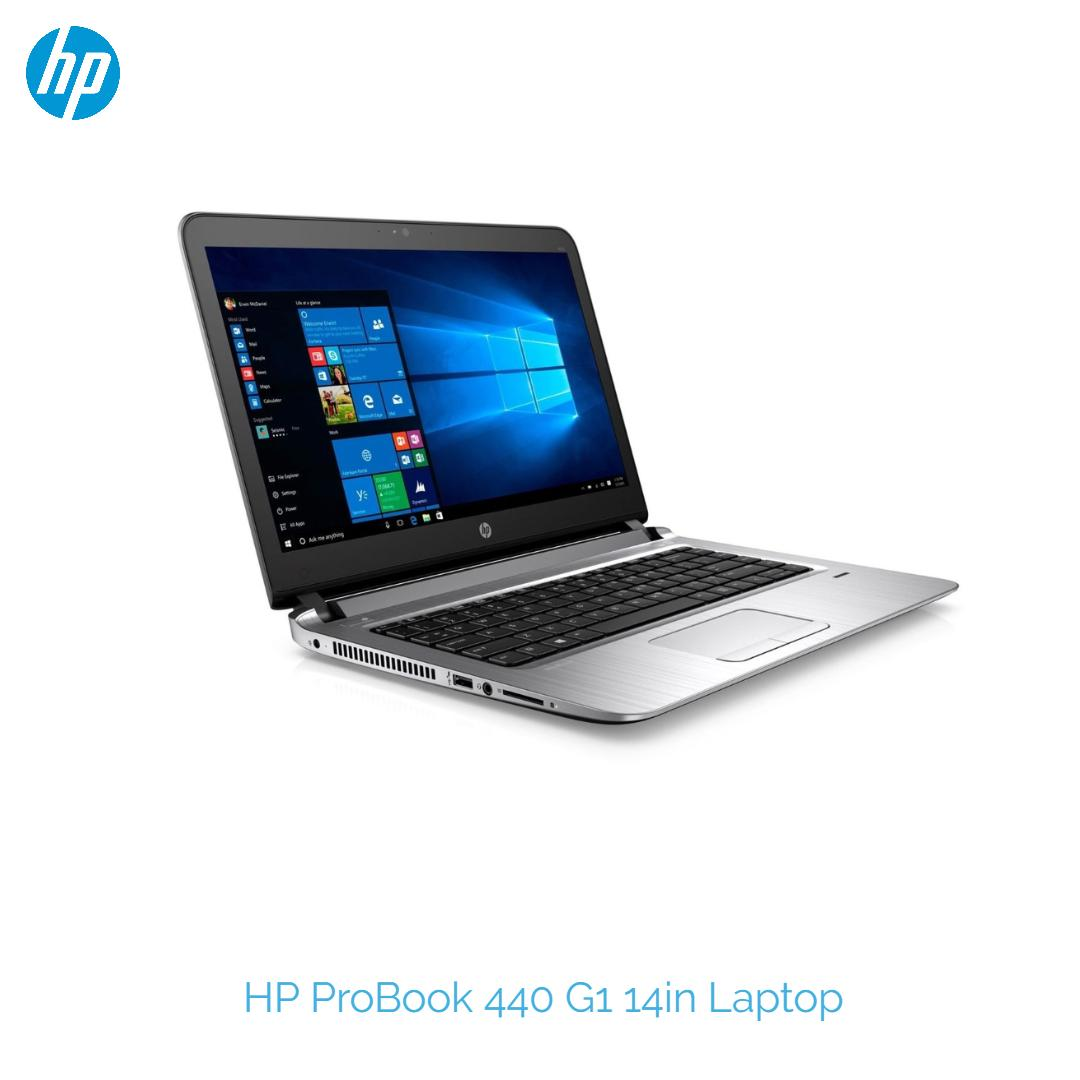 HP ProBook 440 G1 14 Laptop Intel 4th Gen i5-4210U 1.7GHz 4GB RAM 500GB HDD Windows 10 Pro HDMI One month Warranty-Refurbished