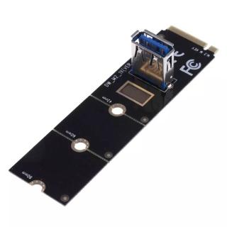 Dây Nối Máy Tính GANJING, Bộ Chuyển Đổi Riser NGFF M.2 Sang PCI-E Thẻ Khai Thác Thẻ Pcie Riser Thẻ Chuyển Thẻ thumbnail