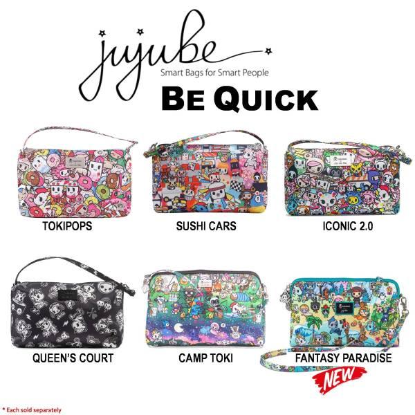 Jujube ∣ Ju-Ju-Be Be Quick Wristlet, Tokidoki Collection [ Tokipops . Sushi Cars . Iconic 2.0 . Queens Court . Camp Toki . Fantasy Paradise ]