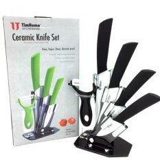 Cheap 6 In 1 Ceramic Knife Set Black