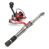 Sale 1 5M Portable Carbon Fiber Ultrashort Travel Telescopic Fishing Rod Sea Spinning Pole Intl