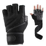 Buying 1 Pair Weightlifting Training Fitness Gloves Wrist Wrap Exercise M Black