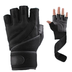 Get The Best Price For 1 Pair Weightlifting Training Fitness Gloves Wrist Wrap Exercise M Black