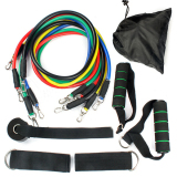 Retail 11 Pcs Resistance Band Set Yoga Pilates Abs Exercise Fitness Tube Workout Bands Export