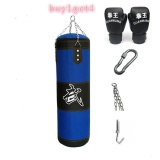 Review 120 Cm Boxing Heavy Punching Training Bag Empty Casual Training Fitness Sand Bag Blue Intl Oem