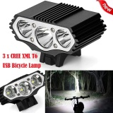 Buy 12000 Lm 3 X Xml T6 Led 3 Modes Bicycle Lamp Bike Light Headlight Cycling Torch Intl Oem Online
