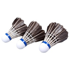 12pcs Black Badminton Goose Feather Cork Shuttlecocks Outdoor Sports Accessories - Intl By Tomtop.