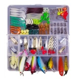 181Pcs Artificial Fishing Lures Tools Fishing Baits Kit Hard Soft Lure Hooks Accessories Set With Storage Box For Saltwater Freshwater Bass Trout Salmon Catfish Marlin Intl Coupon