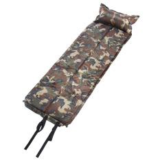 185 60 2 5Cm Camouflage Automatic Inflatable Self Inflating Dampproof Sleeping Pad Tent Air Mat Mattress With Pillow For Outdoor Camping Lower Price