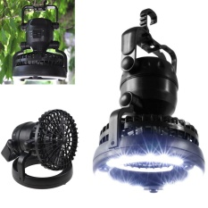 Sale 2 In 1 18 Led Camping Light And Ceiling Fan Outdoor Hiking Flashlight Fan Intl