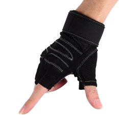 2 Pcs Weight Lifting Gym Training Fitness Gloves(black/l) - Intl By Justgogo.