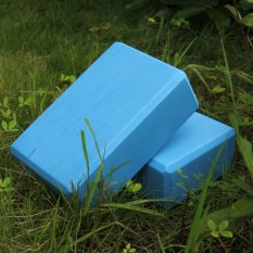 Coupon 2 Piece Yoga Blocks Support And Deepen Poses Improve Strength And Aid Balance And Flexibility Lightweight Soft Yoga Blocks Blue