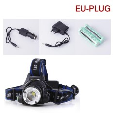 2000Lm Xm L T6 Led Headlamp Headlight Flashlight Torch 18650 Battery Charger Plug Eu Intl Cheap