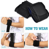 2016 High Quality New Adjustable Sports Wrist Brace Wrap Bandage Support Gym Strap Wristband Black In Stock