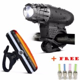 Low Cost 2017 Professional Mountain Road Bike Lights Wareproof Usb Rechargeable Cree Cycling Front With Back Light Set Led Bike Light Intl
