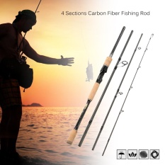 Best 2 1M 4 Sections Carbon Fiber Portable Baitcasting Spinning Fishing Rod Medium Rod Fishing Pole For Saltwater And Freshwater Intl