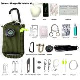 Deals For 29 Accessories Emergency Survival Pod Kit Wrapped In 330Lb Survival Umbrella Rope For Emergencies Multi Function Tool Set Intl