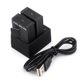 Discount 2Pcs 3 7V 1600Mah Battery Dual Usb Charger For Gopro Hero 1 2 3 3 Intl