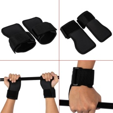 2pcs Black Anti Skid Weightlifting Wristbands Fitness Exercise Half Finger Gym Gloves - Intl By Duoqiao.