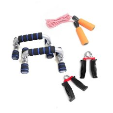 List Price 3 Ways Family Set Include Push Up Stands Jumping Rope Hand Grips Oem