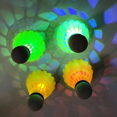 360wish 4pcs Pack Led Luminous Badminton Newfangled Dark Night Glow Lighting Shuttlecock - White By Wish360.