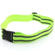 360wish Children Practical Reflective Elastic Running Safety Alert Waist Visibility Reflective Belt For Kids Ourdoor - Green By Wish360.