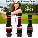 Retail Price 3X Golf Club Knitted Headcover Head Covers For Titleist Taylormade Black Red