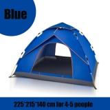 Review 4 5 People Waterproof Automatic Instant Outdoor Pop Up Tent Camping Hiking Tent Blue Intl On China