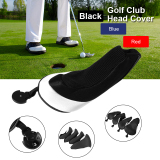 Where To Shop For 4Pcs Golf Club Wood Headcover Head Cover Mesh Protector Putter Set Black Os730