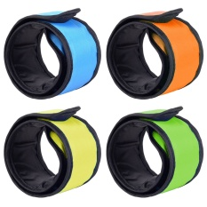 4pcs Led Glow Light Up Band Slap Night Safety Bracelet Wristband For Cycling Jogging Walking Running Concert Camping Outdoor Sports - Intl By Vococal Shop.
