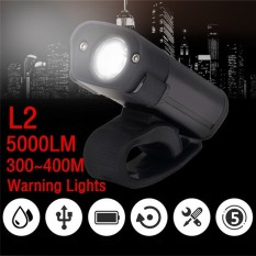 Review 5000Lm L2 Led Cycling Bike Bicycle Head Light Flashlight 5 Modes Torch Usb Outdoor Sports Bike Bicycle Accessories Intl On China