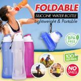 Coupon 500Ml Silicone Foldable Water Bottle For Outdoor Sports Orchid