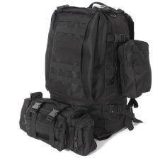 Best 50L Molle 3D Assault Tactical Outdoor Military Rucksacks Backpack Camping Bag Black Export